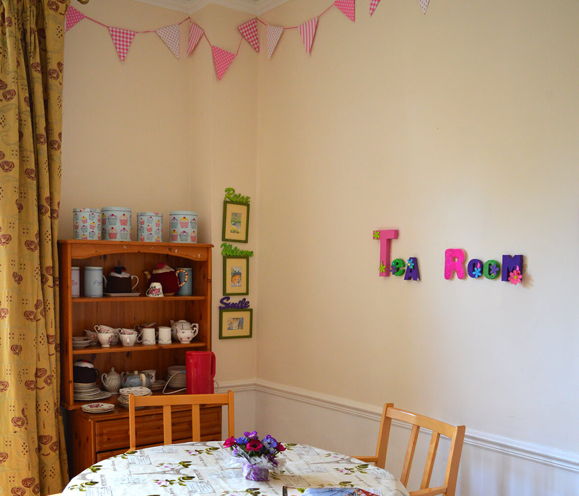 Holmer Manor Care Home tea room