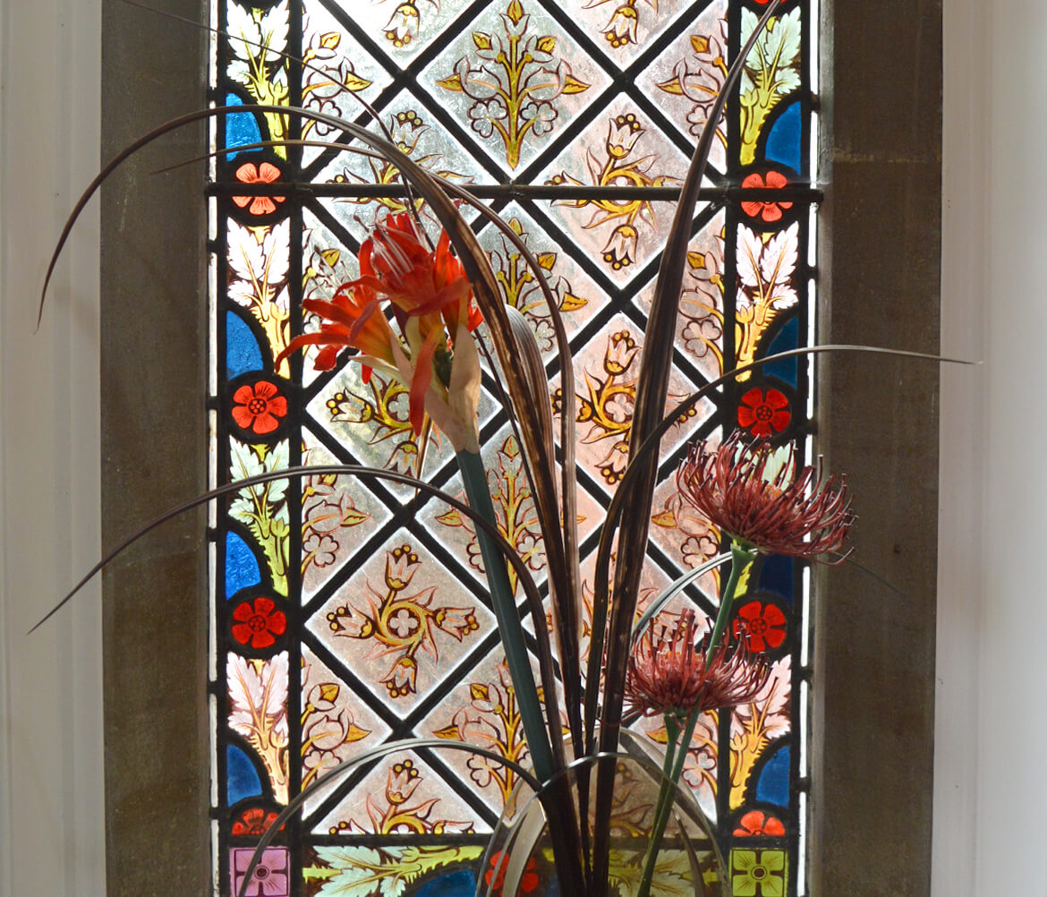 Holmer Manor Care Home stained glass window