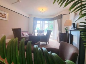 Holmer Manor Care Home in Herefordshire interior seating area